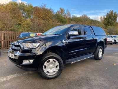 Ford Ranger Pick Up Double Cab Limited 2 2.2 TDCi Auto Pick Up Diesel BlackFord Ranger Pick Up Double Cab Limited 2 2.2 TDCi Auto Pick Up Diesel Black at Mark Duesbury Cars Chesterfield