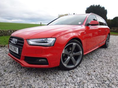 Audi A4 2.0 TDI 143 Black Edition 5dr Estate Diesel RedAudi A4 2.0 TDI 143 Black Edition 5dr Estate Diesel Red at Mark Duesbury Cars Chesterfield