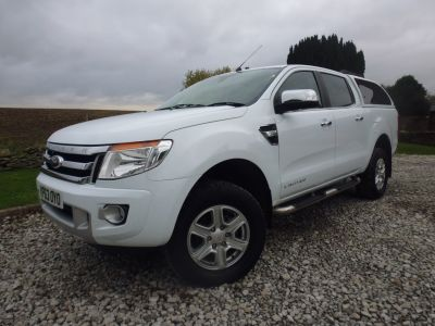 Ford Ranger Pick Up Double Cab Limited 3.2 TDCi 4WD Four Wheel Drive Diesel WhiteFord Ranger Pick Up Double Cab Limited 3.2 TDCi 4WD Four Wheel Drive Diesel White at Mark Duesbury Cars Chesterfield