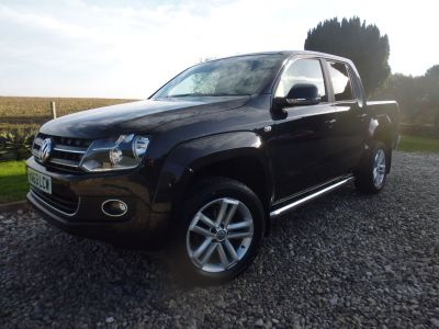 Volkswagen Amarok D/Cab Pick Up Highline 2.0 BiTDI 180 4MOTION Sel Four Wheel Drive Diesel BlackVolkswagen Amarok D/Cab Pick Up Highline 2.0 BiTDI 180 4MOTION Sel Four Wheel Drive Diesel Black at Mark Duesbury Cars Chesterfield