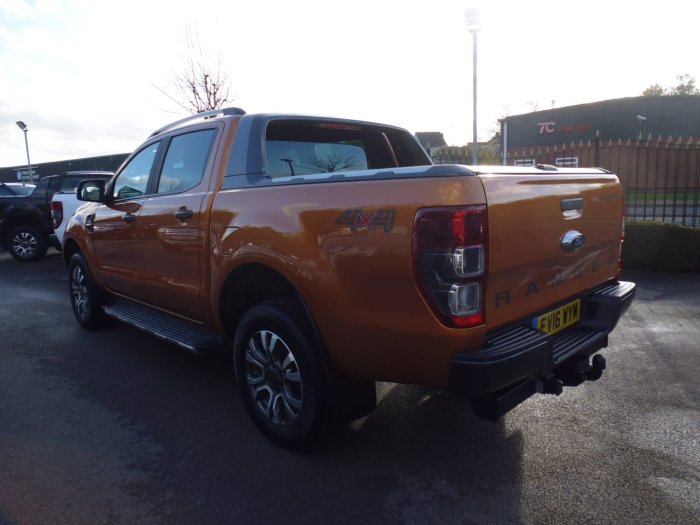 Ford Ranger Pick Up Double Cab Wildtrak 3.2 TDCi 200 Auto Four Wheel Drive Diesel Orange