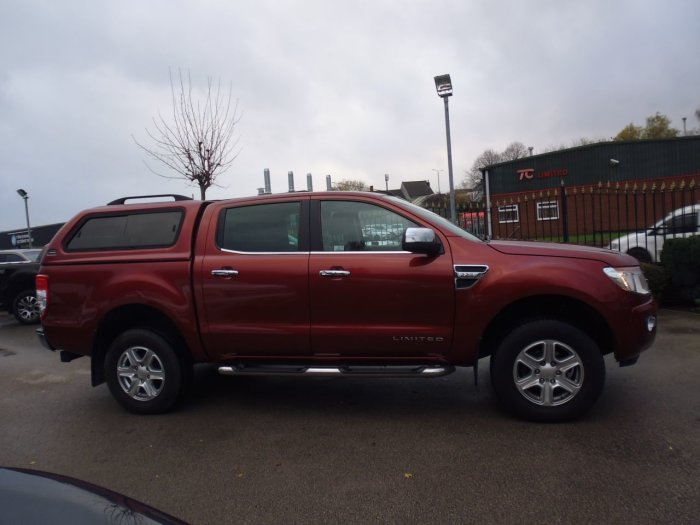 Ford Ranger Pick Up Double Cab Limited 2.2 TDCi 150 4WD Auto Four Wheel Drive Diesel Red
