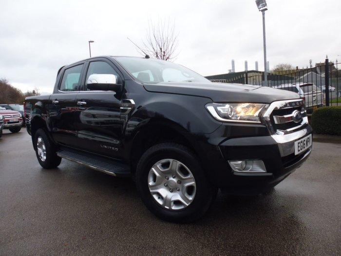 Ford Ranger Pick Up Double Cab Limited 2 2.2 TDCi Four Wheel Drive Diesel Black