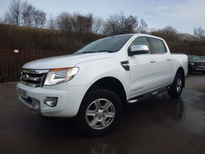 Ford Ranger Pick Up Double Cab Limited 2.2 TDCi 150 4WD Four Wheel Drive Diesel WhiteFord Ranger Pick Up Double Cab Limited 2.2 TDCi 150 4WD Four Wheel Drive Diesel White at Mark Duesbury Cars Chesterfield