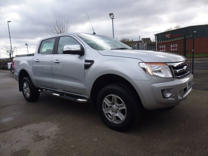 Ford Ranger Pick Up Double Cab Limited 2.2 TDCi 150 4WD Auto Four Wheel Drive Diesel Silver