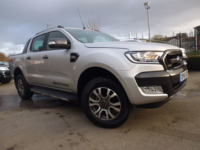 Ford Ranger Pick Up Double Cab Wildtrak 3.2 TDCi 200 Four Wheel Drive Diesel Silver