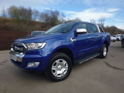 Ford Ranger Pick Up Double Cab Limited 2 2.2 TDCi Auto Four Wheel Drive Diesel BlueFord Ranger Pick Up Double Cab Limited 2 2.2 TDCi Auto Four Wheel Drive Diesel Blue at Mark Duesbury Cars Chesterfield