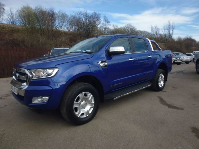 Ford Ranger Pick Up Double Cab Limited 2 2.2 TDCi Auto Four Wheel Drive Diesel Blue