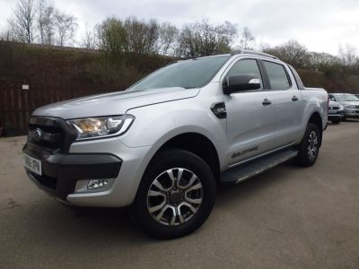 Ford Ranger 3.2 RANGER WILDTRAK 4X4 TDCI Pick Up Diesel SilverFord Ranger 3.2 RANGER WILDTRAK 4X4 TDCI Pick Up Diesel Silver at Mark Duesbury Cars Chesterfield
