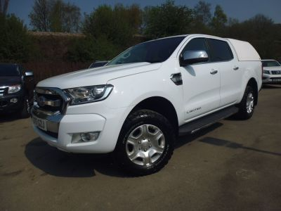 Ford Ranger 2.2 RANGER LIMITED 4X4 TDCI A Pick Up Diesel WhiteFord Ranger 2.2 RANGER LIMITED 4X4 TDCI A Pick Up Diesel White at Mark Duesbury Cars Chesterfield