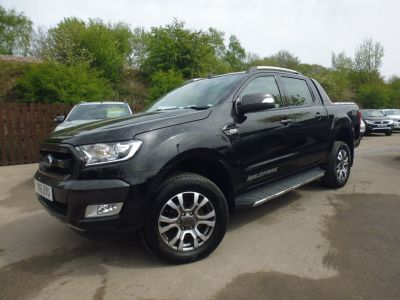Ford Ranger Pick Up Double Cab Wildtrak 3.2 TDCi 200 Pick Up Diesel BlackFord Ranger Pick Up Double Cab Wildtrak 3.2 TDCi 200 Pick Up Diesel Black at Mark Duesbury Cars Chesterfield