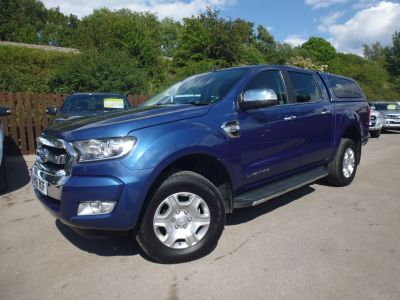 Ford Ranger Pick Up Double Cab Limited 2 2.2 TDCi Pick Up Diesel BlueFord Ranger Pick Up Double Cab Limited 2 2.2 TDCi Pick Up Diesel Blue at Mark Duesbury Cars Chesterfield