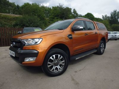 Ford Ranger Pick Up Double Cab Wildtrak 3.2 TDCi 200 Pick Up Diesel OrangeFord Ranger Pick Up Double Cab Wildtrak 3.2 TDCi 200 Pick Up Diesel Orange at Mark Duesbury Cars Chesterfield