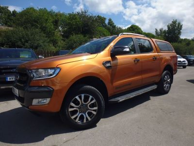 Ford Ranger 3.2 RANGER WILDTRAK 4X4 TDCI Pick Up Diesel OrangeFord Ranger 3.2 RANGER WILDTRAK 4X4 TDCI Pick Up Diesel Orange at Mark Duesbury Cars Chesterfield