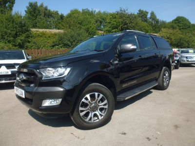 Ford Ranger 3.2 Ranger Wildtrak 4X4 TDCI Pick Up Diesel BlackFord Ranger 3.2 Ranger Wildtrak 4X4 TDCI Pick Up Diesel Black at Mark Duesbury Cars Chesterfield