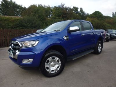 Ford Ranger 2.2 RANGER LIMITED 4X4 TDCI Pick Up Diesel BlueFord Ranger 2.2 RANGER LIMITED 4X4 TDCI Pick Up Diesel Blue at Mark Duesbury Cars Chesterfield