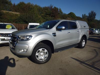 Ford Ranger 3.2 RANGER LIMITED 4X4 TDCI Pick Up Diesel SilverFord Ranger 3.2 RANGER LIMITED 4X4 TDCI Pick Up Diesel Silver at Mark Duesbury Cars Chesterfield