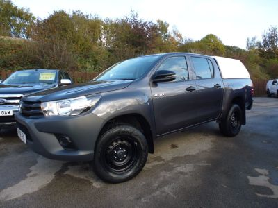Toyota Hilux Active D/Cab Pick Up 2.4 D-4D Pick Up Diesel GreyToyota Hilux Active D/Cab Pick Up 2.4 D-4D Pick Up Diesel Grey at Mark Duesbury Cars Chesterfield