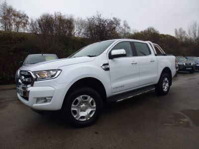 Ford Ranger Pick Up Double Cab Limited 2 2.2 TDCi Auto Pick Up Diesel WhiteFord Ranger Pick Up Double Cab Limited 2 2.2 TDCi Auto Pick Up Diesel White at Mark Duesbury Cars Chesterfield