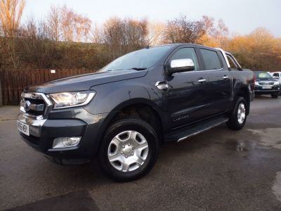Ford Ranger Pick Up Double Cab Limited 1 3.2 TDCi 200 Pick Up Diesel GreyFord Ranger Pick Up Double Cab Limited 1 3.2 TDCi 200 Pick Up Diesel Grey at Mark Duesbury Cars Chesterfield